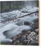 Redfish Creek In Stanley Idaho Wood Print