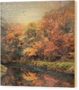 Reflections Of October Wood Print