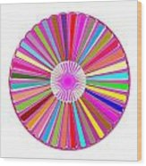 Colorful Signature Art Chakra Round Mandala By Navinjoshi At Fineartamerica.com Rare Fineart Images  Wood Print by Navin Joshi
