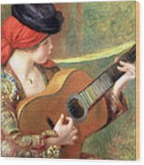 Renoir's Young Spanish Woman With A Guitar Wood Print