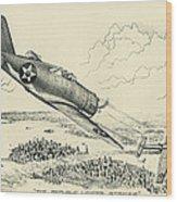 Republic P-43 Lancer Wood Print