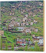 Residents Moved From Homes In Cliffs To Homes Below In 1951 In Cappadocia-turkey Wood Print