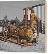 Retired Petroleum Pump Wood Print