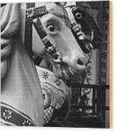 Retro Carousel Wood Print
