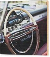 Retro Dashboard Wood Print
