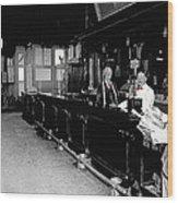 Reverse Angle Interior Cabinet Saloon 68 W. Congress Tucson Arizona 1910 Wood Print