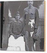 Revolutionary Couple In Studio Unknown Location 1915-1920-2014 Wood Print