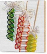 Ribbon Candy Wood Print