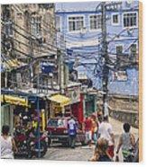 Rio De Janeiro  Brazil - Favela Wood Print