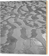 ripples in wet sand Playa De Las Teresitas North Tenerife Canary Islands Spain Wood Print