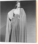 Rita Hayworth, Columbia Portrait, Early Wood Print
