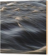 River Flow Wood Print by Bob Orsillo