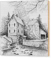 River Mill Wood Print