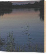 River Murray Sunset Series 2 Wood Print