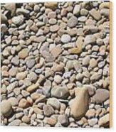 River Rocks Pebbles Wood Print