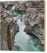 River With A Roman Bridge Wood Print