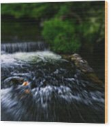River Wye Waterfall - In Bakewell Peak District - England Wood Print