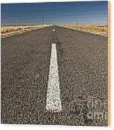 Road Ahead Wood Print by Tim Hester