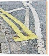 Road Markings Wood Print