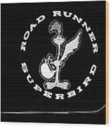 Road Runner Superbird Emblem Wood Print