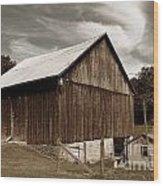 Roadside Barn Wood Print