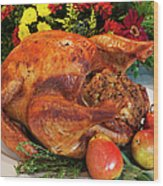 Roast Turkey Wood Print