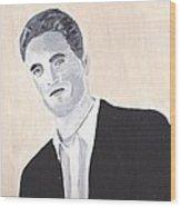 Robert Pattinson 147 Wood Print