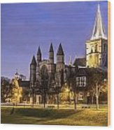 Rochester Cathedral Wood Print