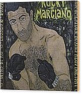 Rocky Marciano Wood Print by Eric Cunningham