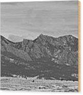 Rocky Mountains Flatirons And Longs Peak Panorama Boulder Wood Print