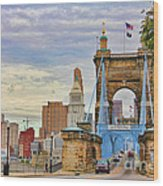 Roebling Bridge 9872 Wood Print