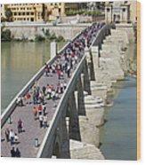 Roman Bridge In Cordoba Wood Print