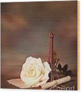 Romantic Still Life Wood Print