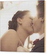 Romantic Wedding Kiss Wood Print