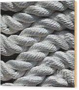 Rope Pattern Wood Print by Yali Shi