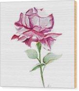 Rose 2 Wood Print by Nancy Edwards