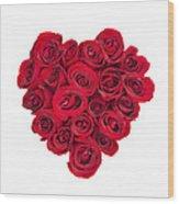 Rose Heart Wood Print by Elena Elisseeva