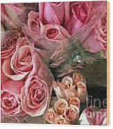 Roses For Sale Wood Print