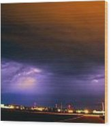 Round 2 More Late Night Servere Nebraska Storms Wood Print