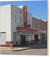 Route 66 - Odeon Theater Wood Print