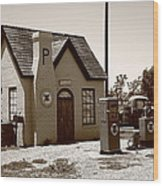 Route 66 - Phillips 66 Gas Station Wood Print