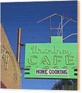 Route 66 - Uranium Cafe Wood Print