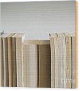 Row Of Books Wood Print