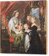 Rubens' Deborah Kip -- Wife Of Sir Balthasar Gerbier -- And Her Children Wood Print