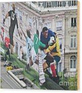 Rugby In Paris Wood Print