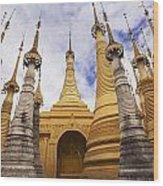 Ruined Pagodas At Shwe Inn Thein Paya Wood Print