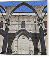 Ruins Of Carmo Convent In Lisbon Wood Print