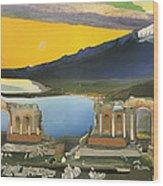 Ruins Of The Greek Theatre At Taormina Wood Print