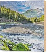 Rushing Valley Wood Print
