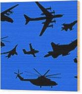 Russian Aviation Wood Print